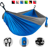 Camping Hammock - Blue with Gray Trim