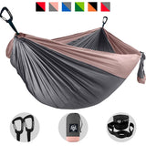 Camping Hammock - Gray with Rose-Gold Trim