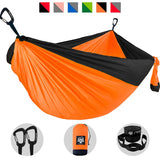 Camping Hammock - Orange with Black Trim