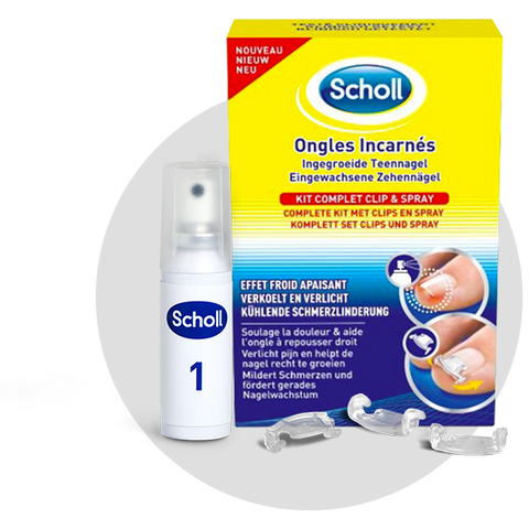 Scholl Ongles incarnés Kit Complet Clip & Spray