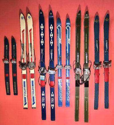Vintage Mid Century Collection of Tyrollean Skis - 6 pairs