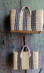 Boathouse Como Blue Stripe Basket - Large