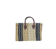 Boathouse Como Blue Stripe Basket - Medium