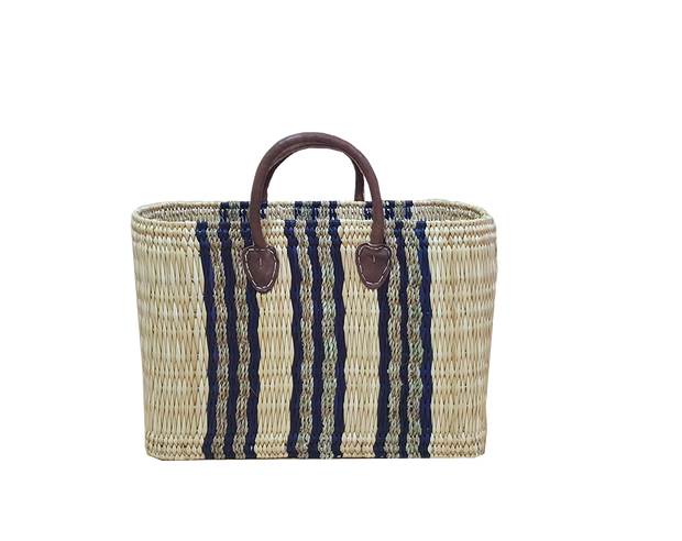 Boathouse Como Blue Stripe Basket -  S/2 Large and Medium
