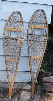 "Vintage Children's Snow Shoes - 31"" - A Rare Selection"
