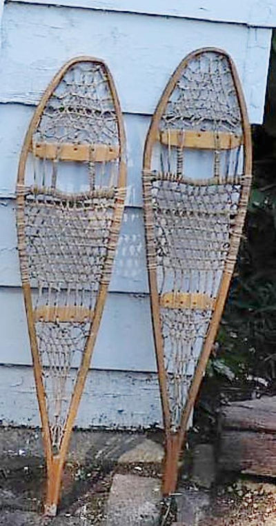 Vintage Childrens Vintage Snow Shoes - 31""