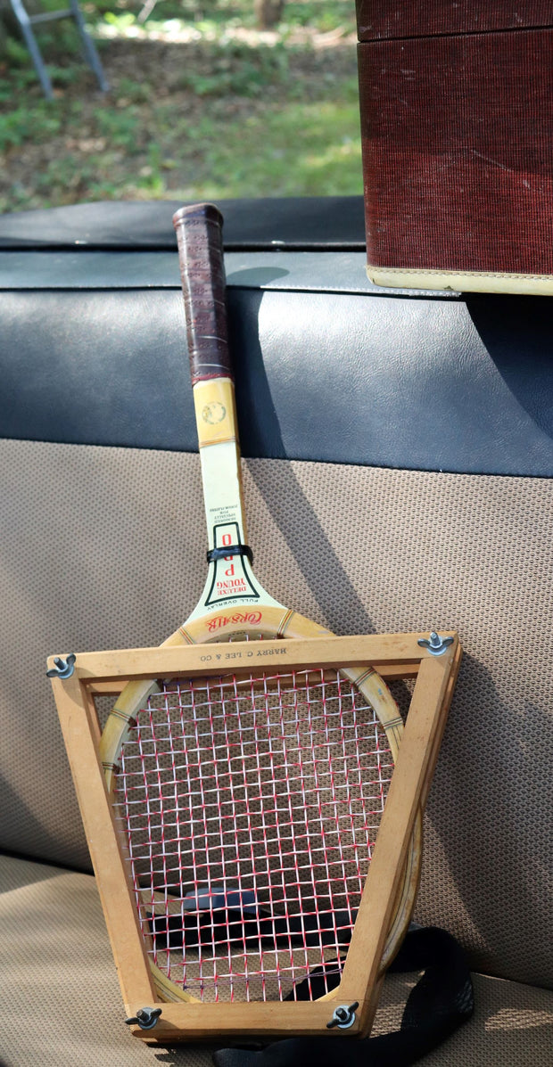 Vintage E.J. Korvette design Jr. Tennis Racket with Stretcher - C-1960's