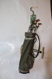 Vintage Sunday Walking Golf Bag with Everything you need for a day out on the links.