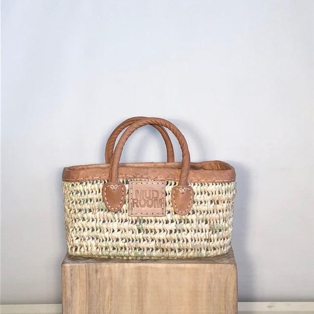 East Shore Excursion Tote - S/4 with leather handles
