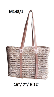 Boathouse Signature Walking Tote Basket - Natural Leather Trim