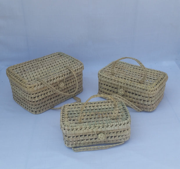 Valisette - Set of 3 Woven Suitcases