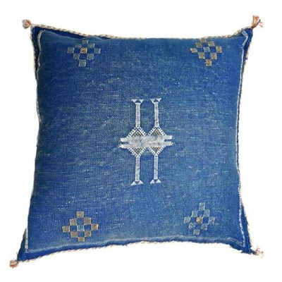 Cactus Silk Pillow Sham - Indigo Blue