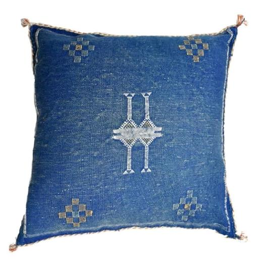 Sabra  Silk Pillow Sham - Indigo Blue