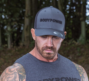 BodyPower Trucker Cap - Grey/Black