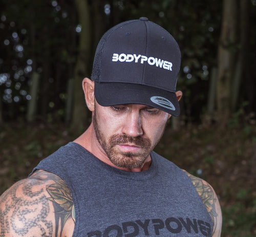 BodyPower Trucker Cap -Black/ White