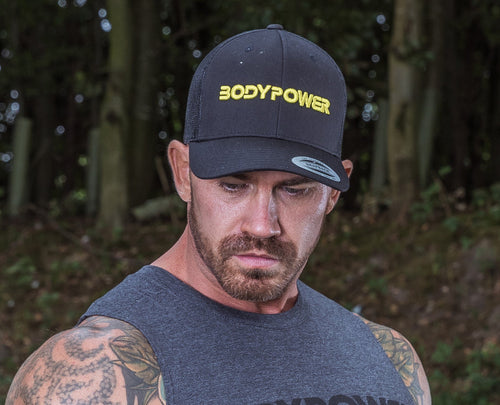 BodyPower Trucker Cap - Black/Yellow