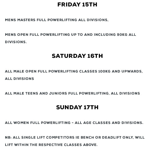 British Powerlifting Union - British Championships 2020 - 15th-17th May 2020. THIS EVENT IS INVITE ONLY