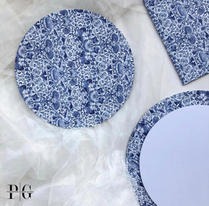 Cake Board - China Blue