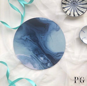 Cake Board - Blue Marble