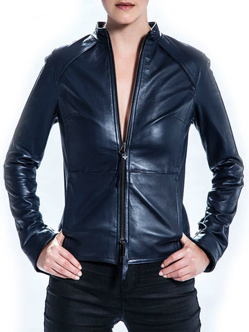+BERYLL LEATHER JACKET