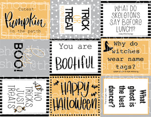 *Halloween Lunchbox Notes/treat tags PDF