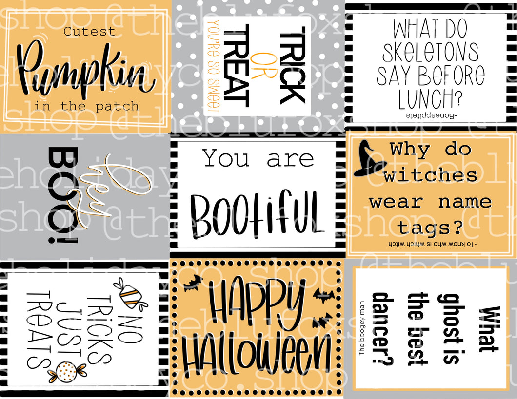 PDF Halloween Lunchbox Notes PDF