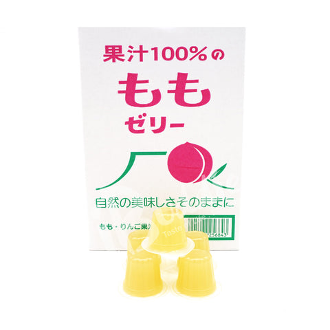 Japan Fruit Juice Jelly - Peach / 100% 果汁者喱 - 白桃 (23pcs)