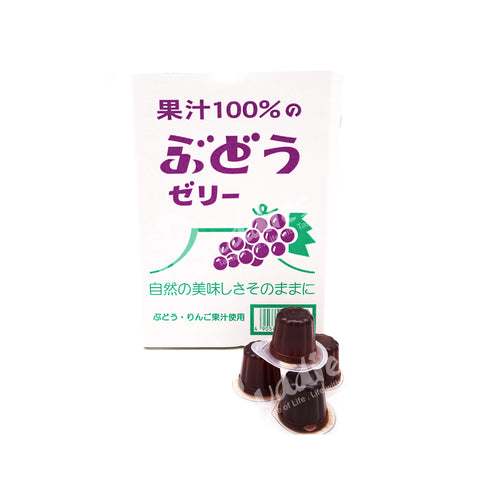 Japan Fruit Juice Jelly - Grapes / 100% 果汁者喱 - 提子 (23pcs)