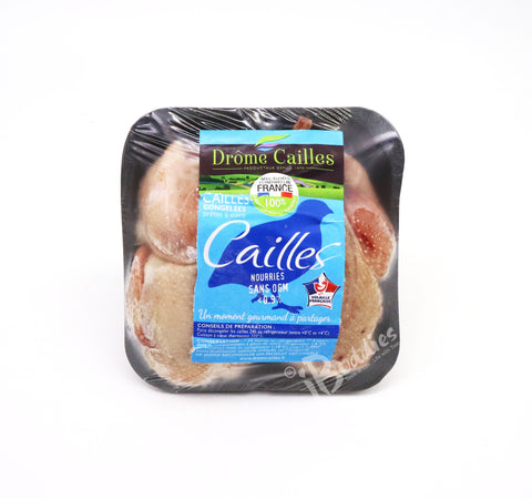 Frozen Head off Quail Oven Ready (240g-270g/pc, 2pcs/pack)