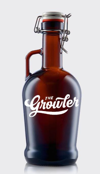 Eterna Glass Printed Swingtop Amber 1 Litre Growler from £8.32 Each Ex Vat (Pallet of 560)(Delivered Mainland UK)