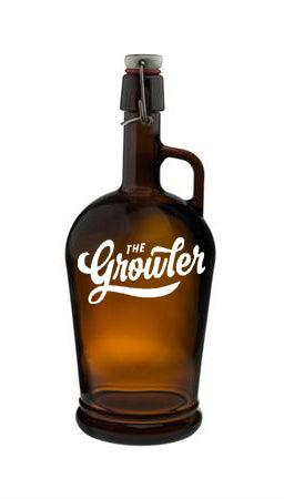 Classico Glass Printed Swingtop Amber 2 Litre Growler from £11.36 Each Ex Vat (Pallet of 336)(Delivered Mainland UK)
