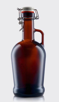 Eterna Glass Blank Swingtop Amber 2 Litre Growler from £9.85 Each Ex Vat (Pallet of 336)(Delivered Mainland UK)