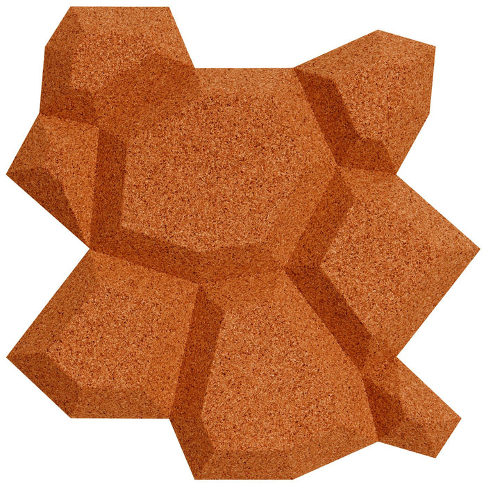 Muratto Beehive Honeycomb Pattern Luxury Cork Wall Panels
