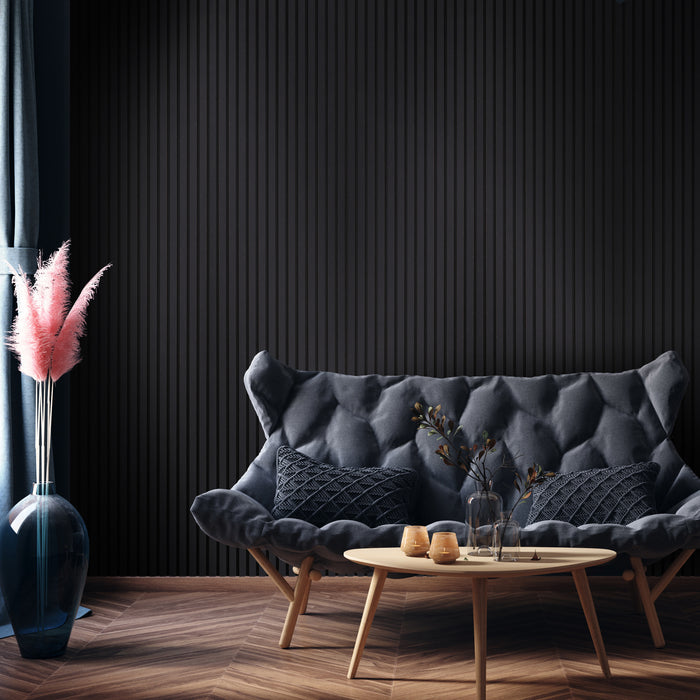 Black Acoustic Panel wall