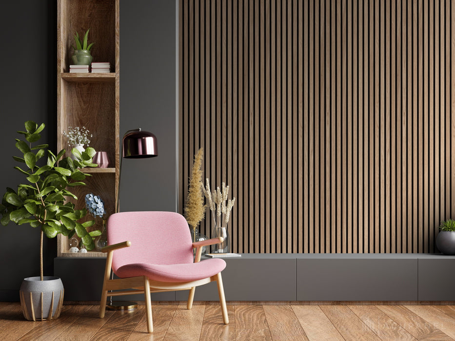 Acupanel® Contemporary Walnut Acoustic Wood Wall Panels