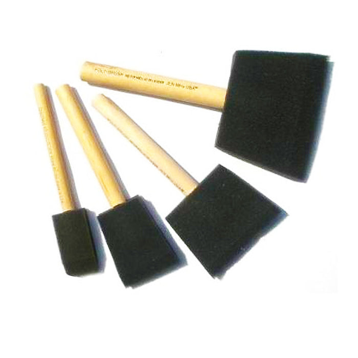 Chestnut Foam Brushes (4 Pack)