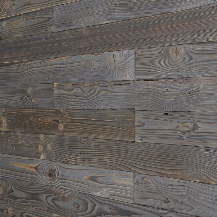 graphite grey reclaimed wood wall panels