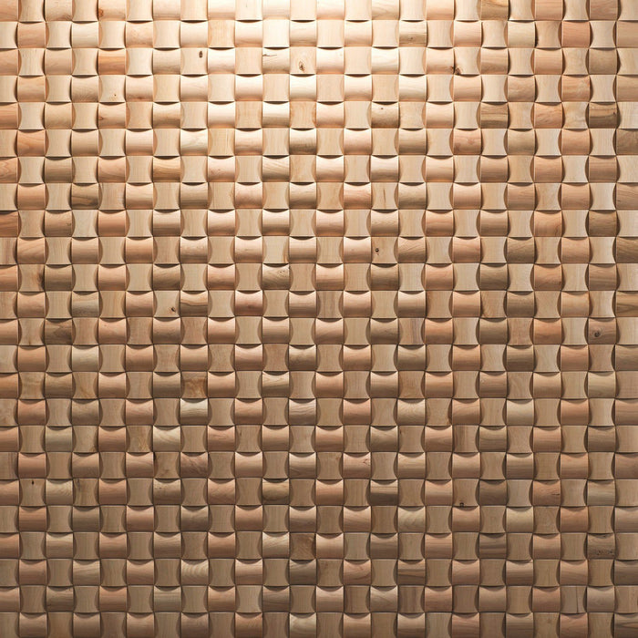 Daim Curved 3D Wood Antique Panel Plain Wall