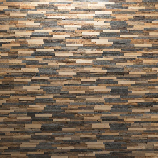 3D Grey Wood Wall Panels