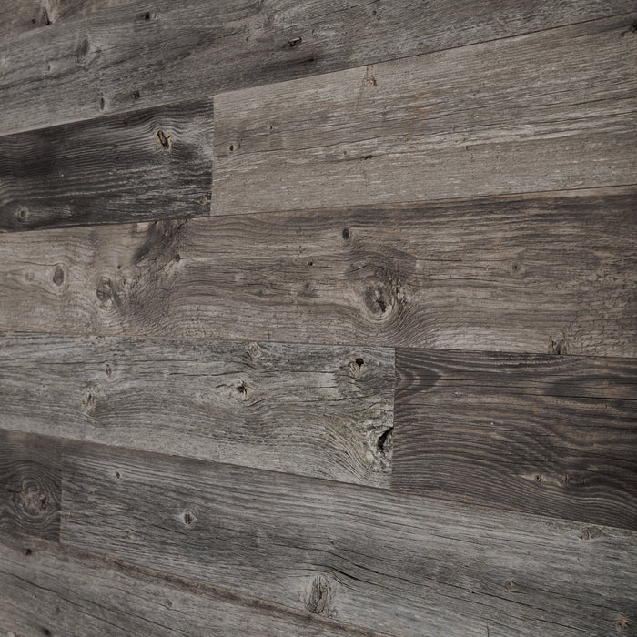 Grey Reclaimed Wood Wall