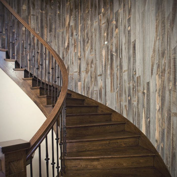 Weathered Wood in Staircase Project