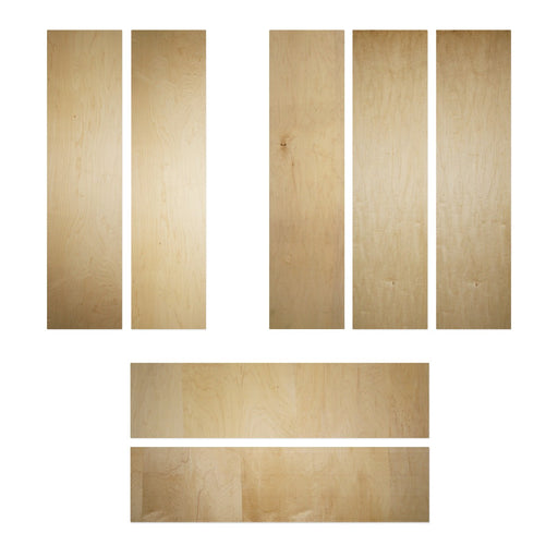 Canadian Hard Maple 1.5mm Longboard Wood Veneer Kits 121.92cm x 30.48cm