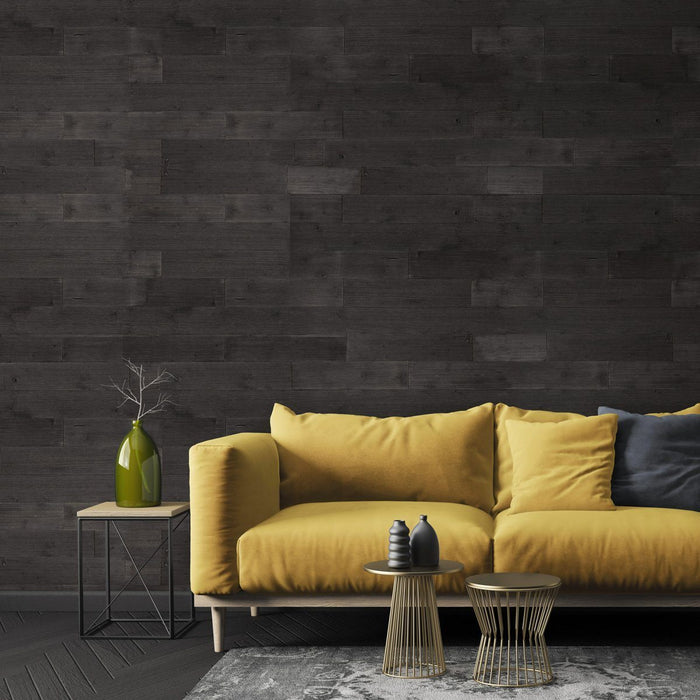 Graphite Grey Peel and Stick Wood Wall Panels