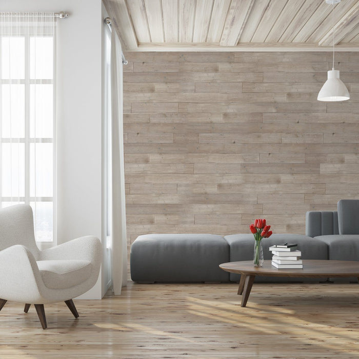 Dove Grey Peel and Stick Wood Wall Panels