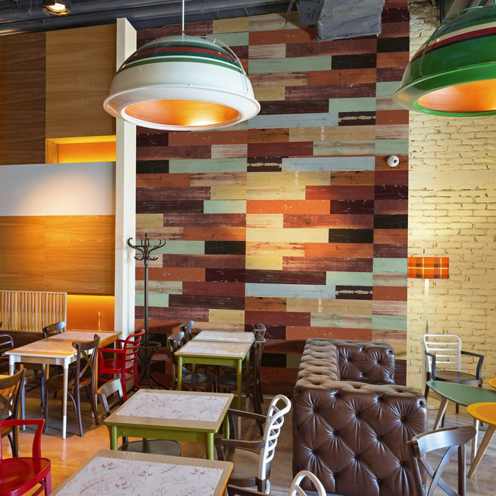 Harlequin Multi-Color Peel and Stick Wood Wall Panels