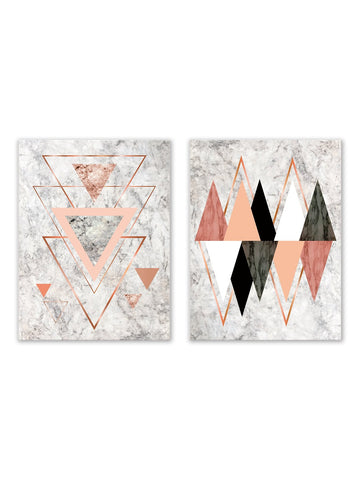 Geometric Cloth Painting - Winston Square. Home interior and decor store