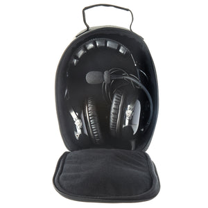 ANR.1 Premium ANR Pilot Aviation Headset with Aux Input and Carrying Case - Jet Black