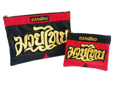 Muay Thai clutch bag Black Red Small Size - Goods Shopi
