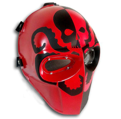Paintball Airsoft Mask  Red Black - A028 - Goods Shopi