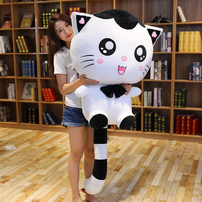 Cute Giant Stuffed Big Face Soft Cat Plush Toy Pillow